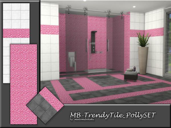 The Sims Resource: Trendy Tile Polly Set by  matomibotaki