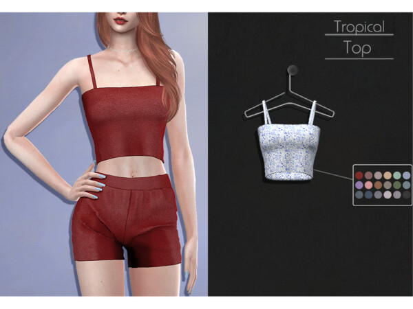The Sims Resource: Tropical Top by Lisaminicatsims