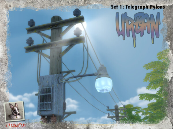 The Sims Resource: Urban Set 1Telegraph Pylons by Cyclonesue
