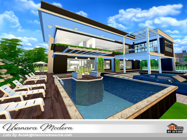 The Sims Resource: Usanara Modern House by Autaki