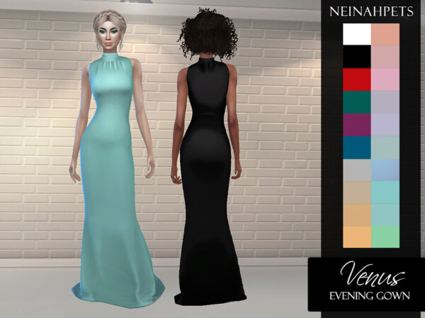 The Sims Resource: Venus Evening Gown by neinahpets