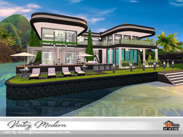 The Sims Resource: Vintry Modern House by Autaki