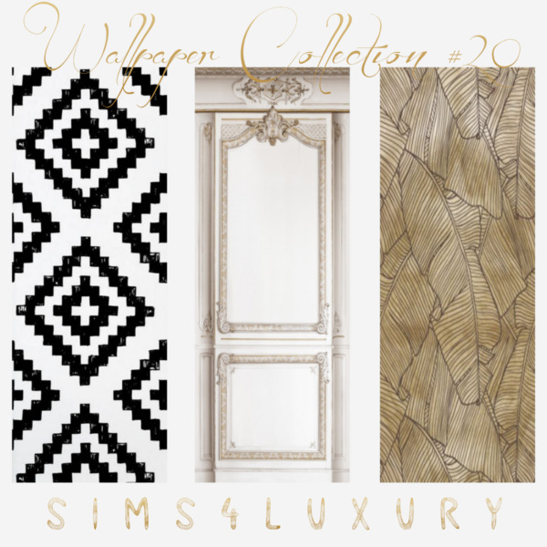 Sims4Luxury: Wallpaper Collection 20