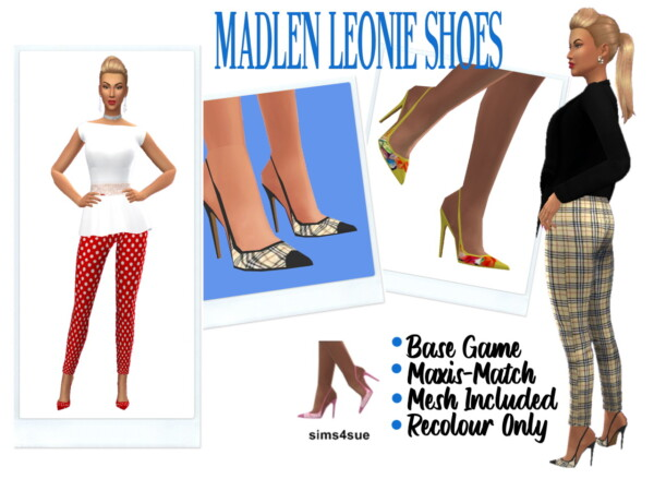 Sims 4 Sue: Toe Nail Polish and Madlen`s Leonie Shoes Recolored