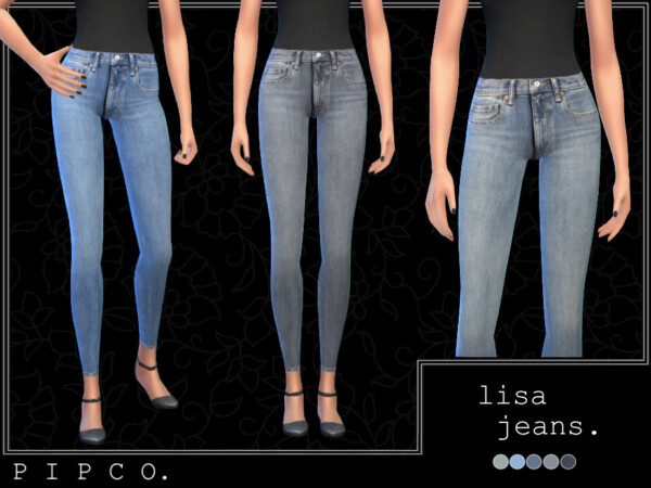 The Sims Resource: Lisa jeans set by Pipco