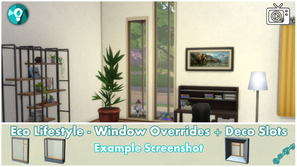 Windows and Deco Slots   Overrides by Bakie from Mod The Sims