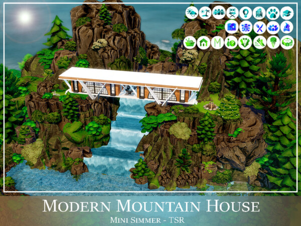 Modern Mountain House by Mini Simmer from TSR