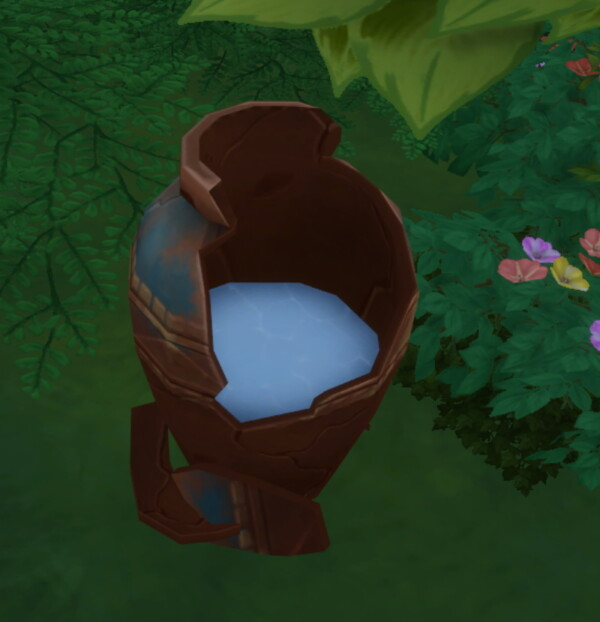 Water Collector Broken Ancient Vase by BlueHorse from Mod The Sims