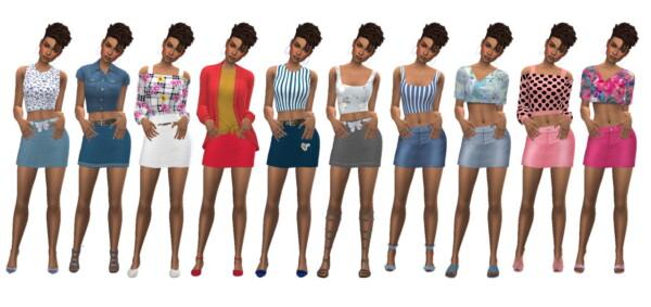 Denim Mini Skirt from Sims 4 Sue