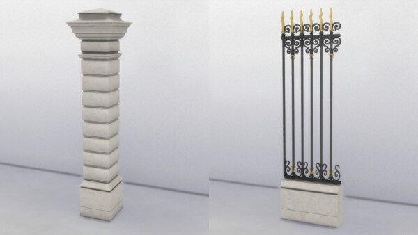 Lyon Wrought Iron Fence by TheJim07 from Mod The Sims