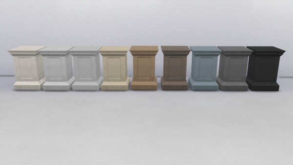 Stone Pedestal by TheJim0 from Mod The Sims