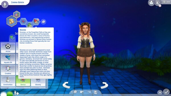 Dungeons and Dragons Races as Traits by Emoria from Mod The Sims