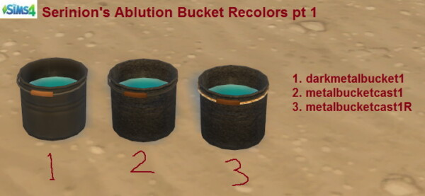 31 Recolors of Serinions Portable Bucket for ablution by suceress from Mod The Sims