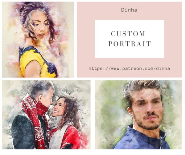 Custom Portrait 6 Paintings from Dinha Gamer