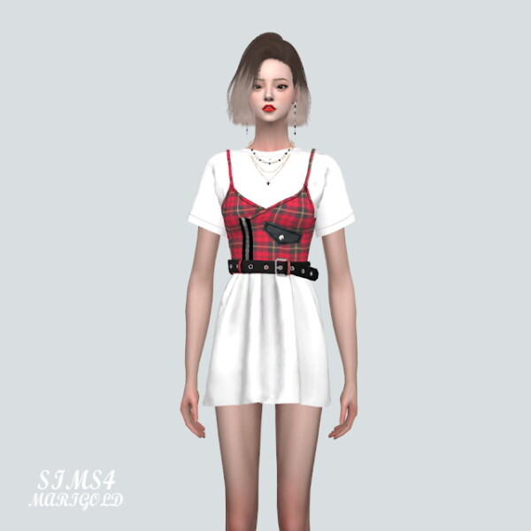 Z Punk Mini Dress With T shirts from SIMS4 Marigold