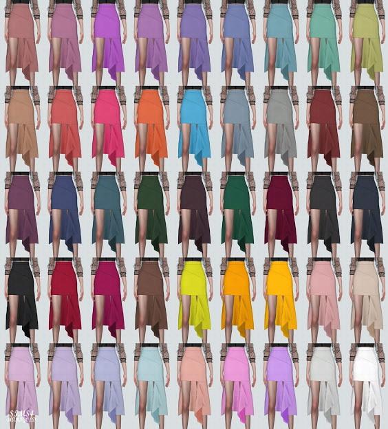 Cutting Midi Skirt from SIMS4 Marigold