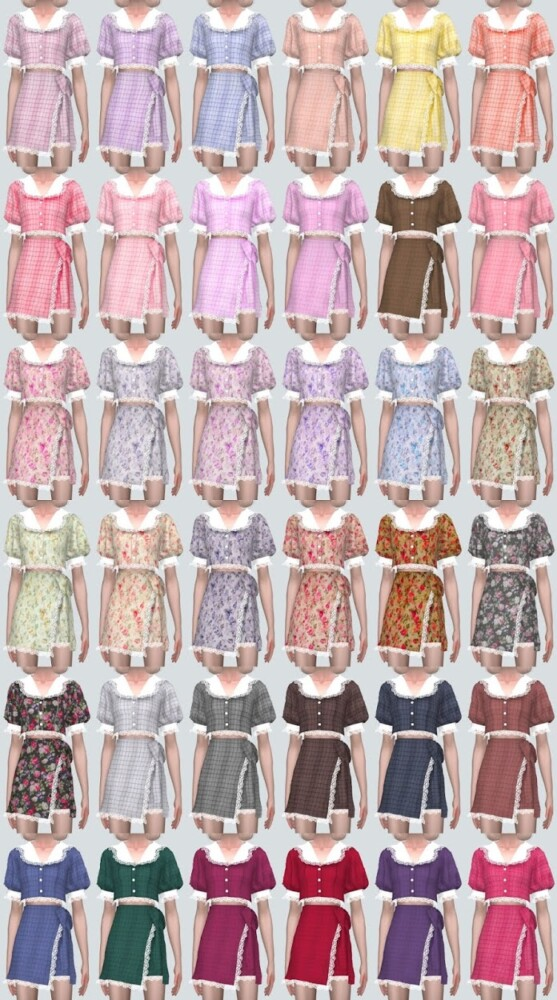 Lace Cute 2 Piece from SIMS4 Marigold