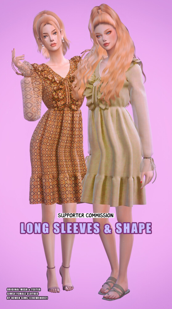 Long Sleeves and Shape Dress from Newen