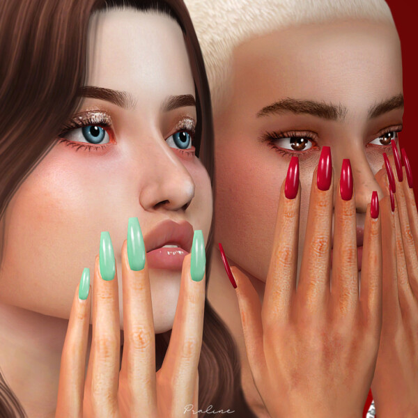 Bubble pop and Sugar Milk Nails from Praline Sims