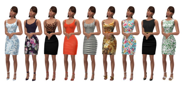 Pencil Dress from Sims 4 Sue
