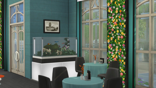 Redesign of the Her n Hedgehog cafe by fatalist from Ihelen Sims