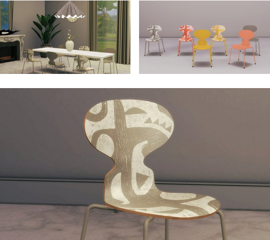 Ant Chair Deco Print from Meinkatz Creations