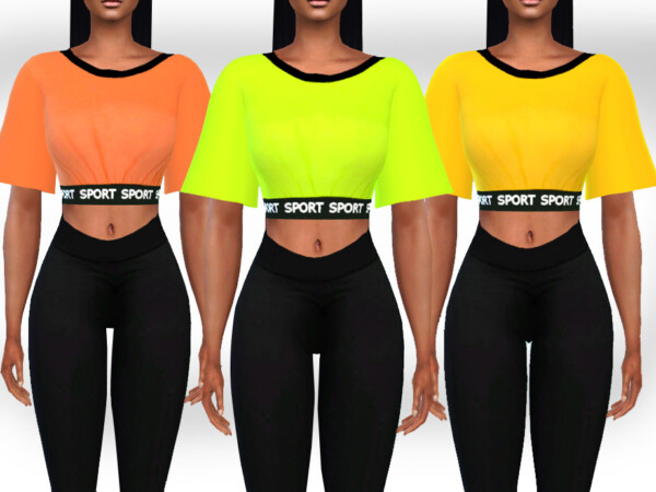 Athletic and Casual Neon Tops by Saliwa from TSR