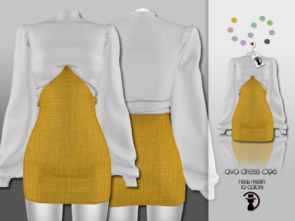 Ava Dress C196 by turksimmer from TSR