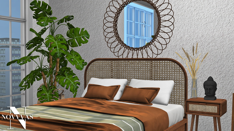 Boho Bedroom from NOVVAS • Sims 4 Downloads