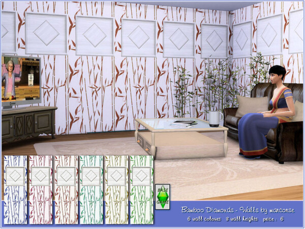 Bamboo Diamonds Walls by marcorse from TSR
