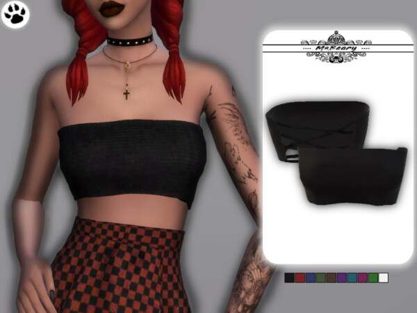 Bandeau Tie Top by MsBeary from TSR