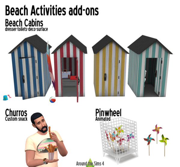 Beach activities from Around The Sims 4