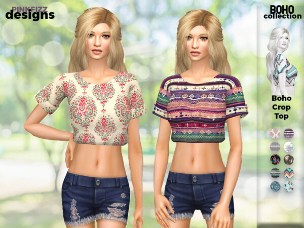 Boho Crop Top by Pinkfizzzzz from TSR