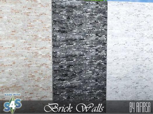 Brick wall covering from Aifirsa Sims