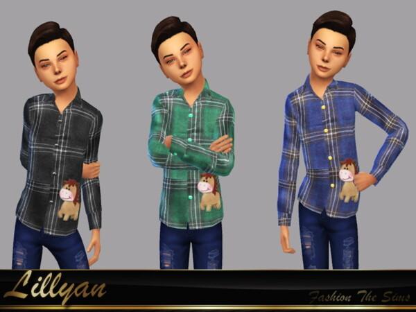Bruno children shirt by LYLLYAN from TSR