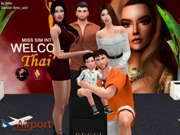 By Beto   Airport Pose Pack by Beto ae0 from TSR