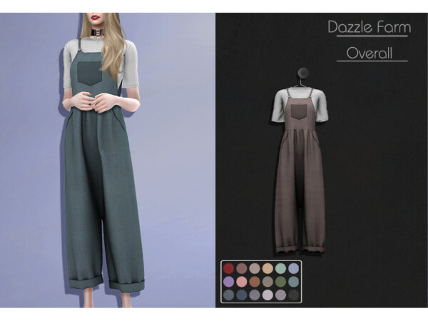 Dazzle Farm Overall by Lisaminicatsims from TSR