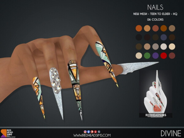 Divine Nails from Red Head Sims