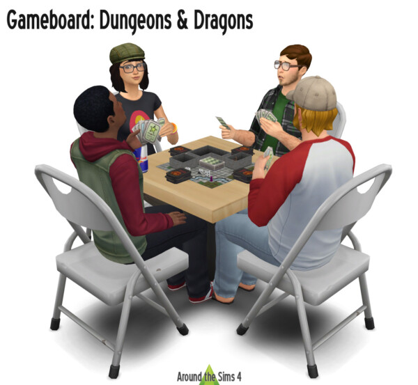 Dungeons and Dragons Game Board from Around The Sims 4