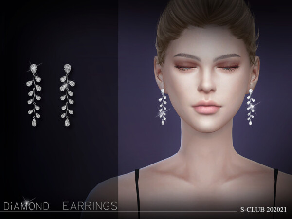 Earrings 202021 by S club from TSR