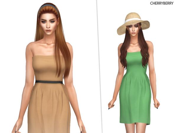 Earth Tones Dress by CherryBerrySim from TSR