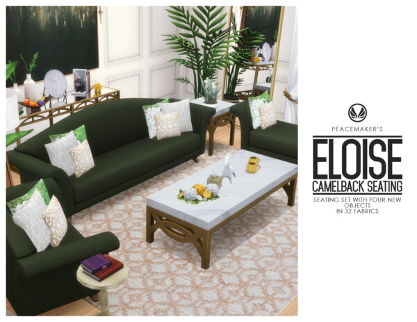 Eloise Camelback Seating from Simsational designs