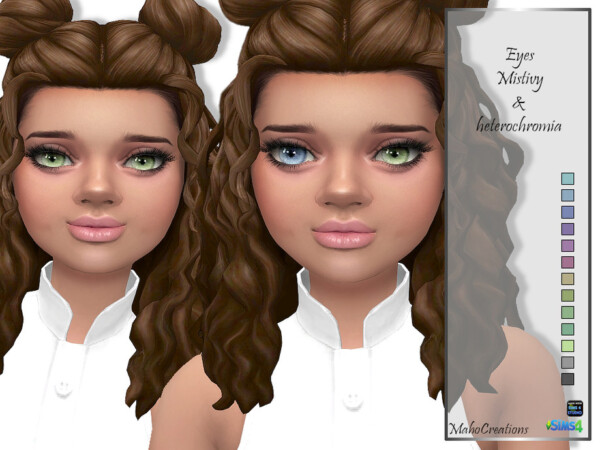 Eyes Mistivy and Heterochromia by MahoCreations from TSR