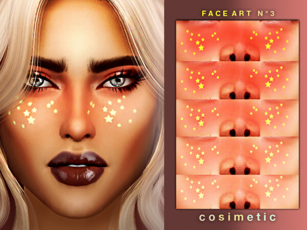 Face Art Tattoo N3 by cosimetic from TSR