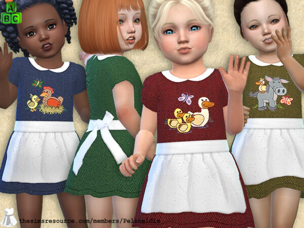 Farm Dress with Apron by Pelineldis from TSR