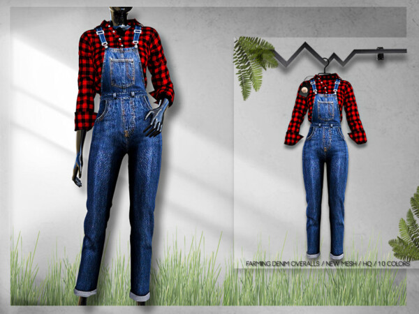 Farming Denim Overalls BD292 by busra tr from TSR
