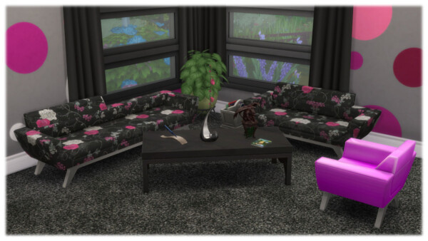 Fat Bottom Reading Chair   Retro Collection by Wykkyd from Mod The Sims
