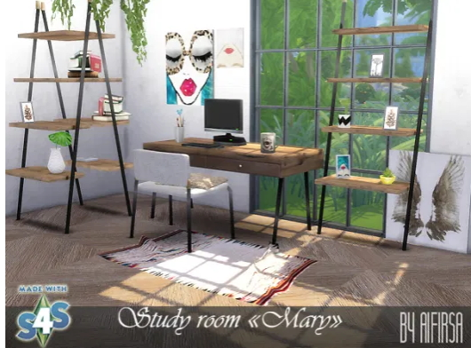 Office Mary from Aifirsa Sims