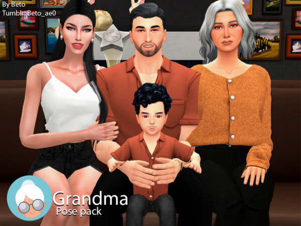 Grandma Pose Pack by Beto ae0 from TSR