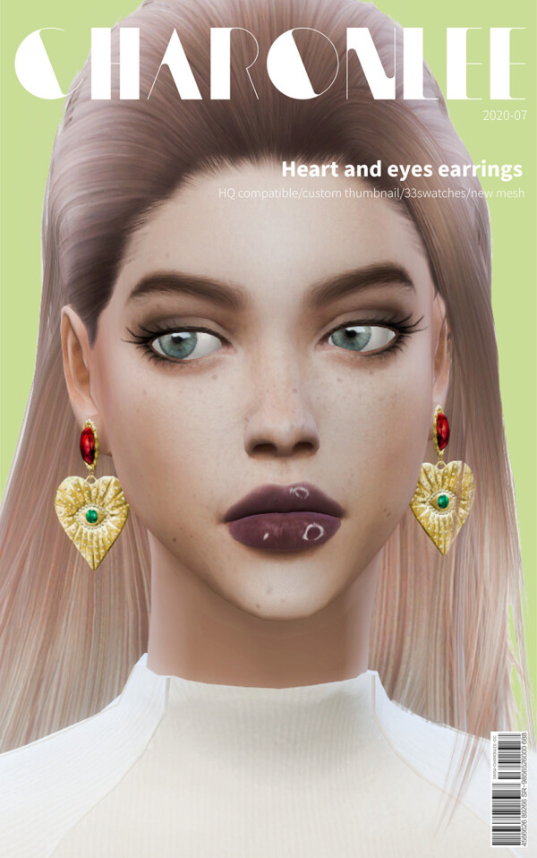 Heart and eyes earrings from Charonlee